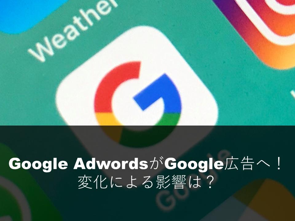 Google AdwordsがGoogle広告へ!変化による影響は?